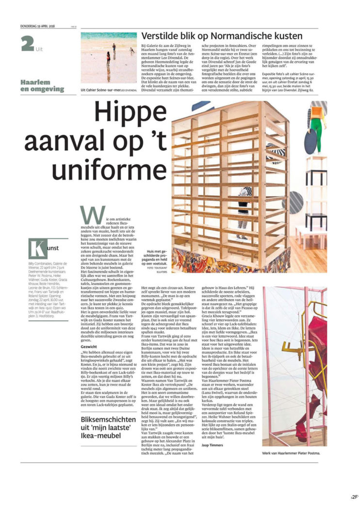 nh dagblad over de expo billy combinaties - guda koster